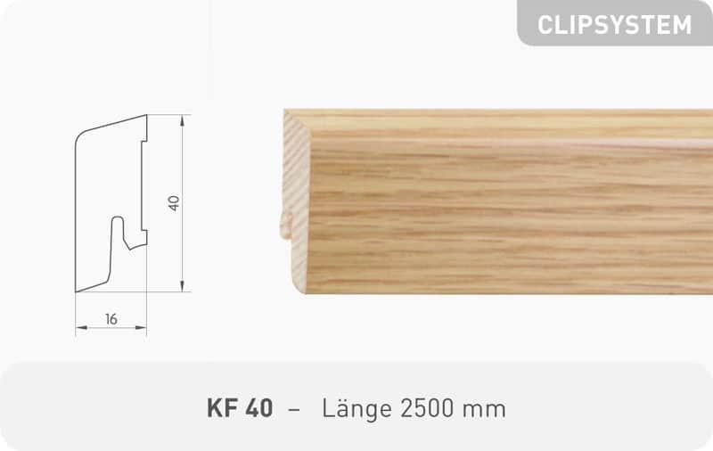Leiste KF 40 Eiche Mandel